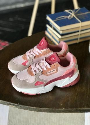 Кроссовки adidas falcone в розовом цвете (36-40)💜