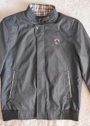 Мужская куртка ветровка бомбер burberry размер м оригинал