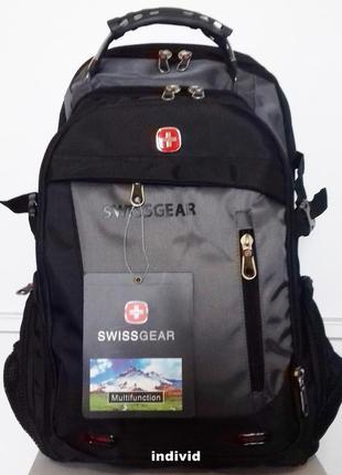 Рюкзак swissgear c  аудио usb кабель в комплекте. швейцарский рюкзак сумка портфель