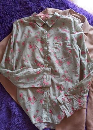 Уютная рубашка в нежный цветочный принт🌺🌺🌺
