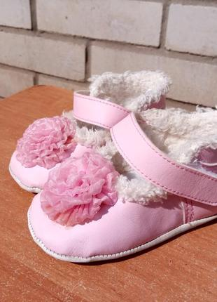 Туфельки с мехом на младенцев