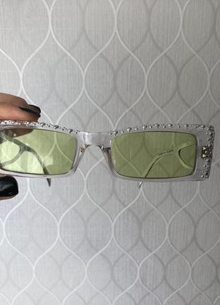 Новые  стильные очки техно неоновые