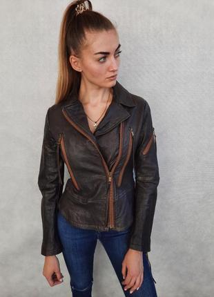 Кожаная косуха куртка diesel