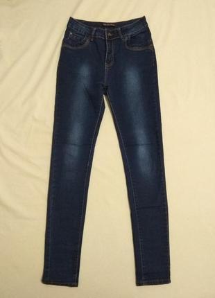 Новые джинсы штаны брюки на высокой посадке из денима премиум качества от miss denim