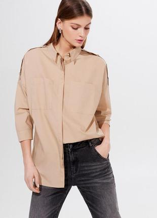 Хлопковая рубашка oversize