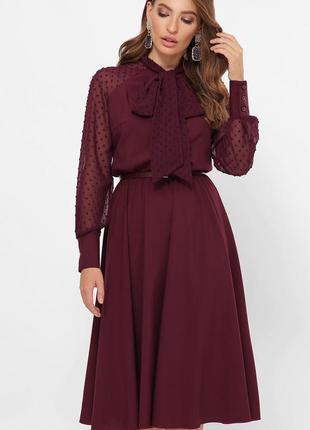 1838.     бордовое вечернее платье