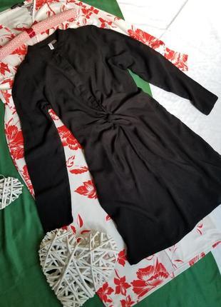 🌻 стильное платье рубашка h&m с воротником стойкой