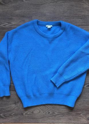 Ярко синий свитер ostin