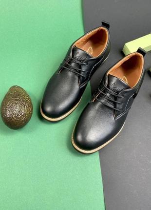 Подростковые туфли из натуральной кожи yuves м6