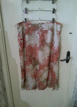 Красивая,летняя юбка,с кораллами,basler,большого размера пот 52см