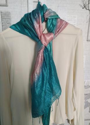 Шелковый палантин шарф платок cachet. акция 1+1=3!