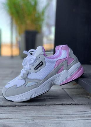 Женские кроссовки adidas falcone в белом цвете (36-41)💜