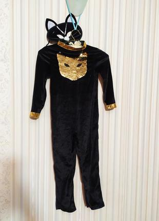Карнавальный костюм черной кошки кошечки хэллоуин