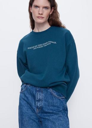 Свитшот худи свитер zara