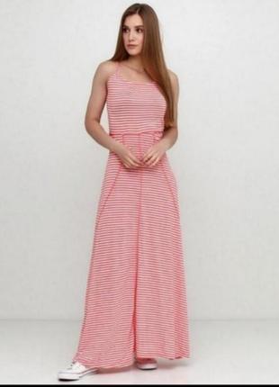 Красивый длинный сарафан в полоску, платье в пол esmara