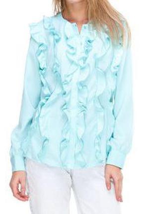 Новая шикарнейшая блуза небесно голубого цвета justor италия на наш 44-46