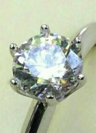 Золотое кольцо с бриллиантом 0.53 карат