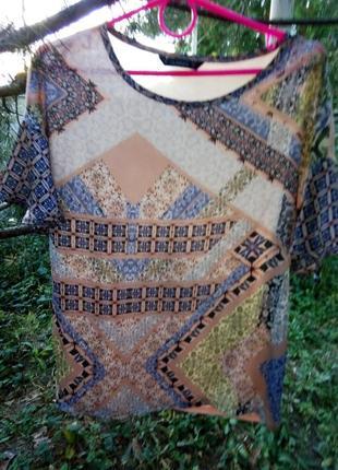Нарядная блузка, комбинированная, фонарик