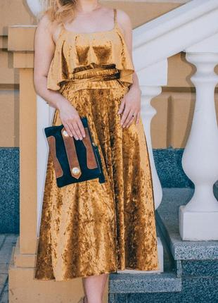 Платье золотое valentino