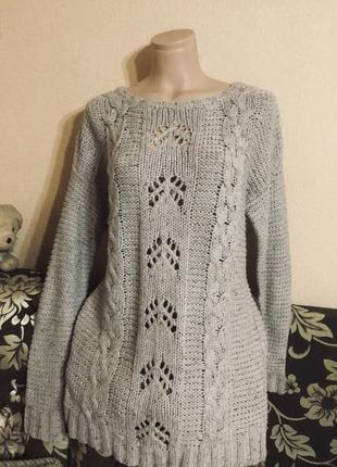 Фирменный вязанный свитер кофта