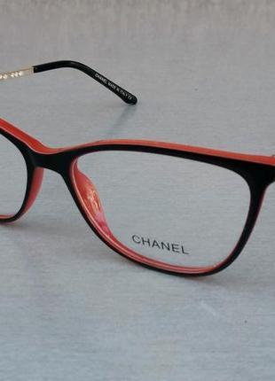 Chanel оправа для очков черная с красным