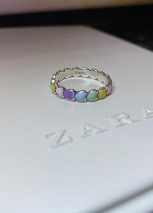 Каблучка кольцо серебро 925
