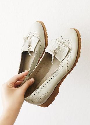 Кожаные туфли-лоферы