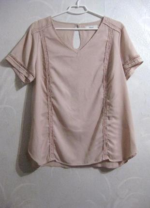 Блуза футболка zizzi нюдовая розовая бежевая