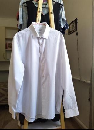 Женская белая рубашка оверсайз блузка кофта кардиган