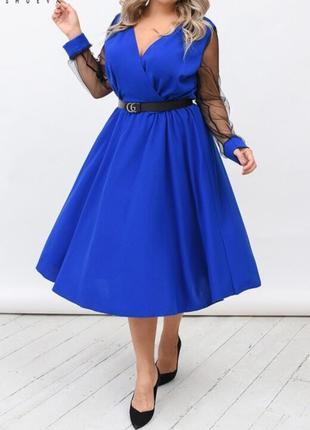 Росскошное платье батал