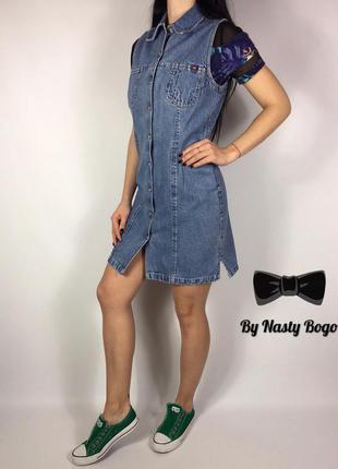 Джинсовый сарафан/платье mustang винтаж