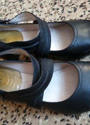 Туфли кожаные женские 39,5- 40р.