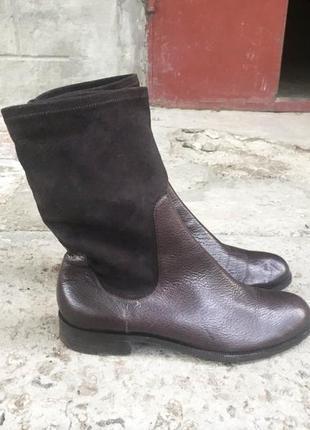 Кожаные ботинки gunex brunello cucinelli