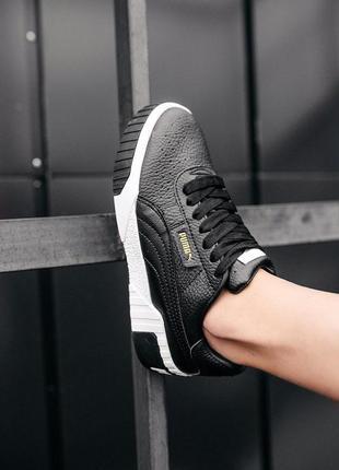 Puma cali black шикарные женские кроссовки пума кали черные