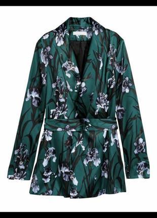 Пиджак атласный жакет