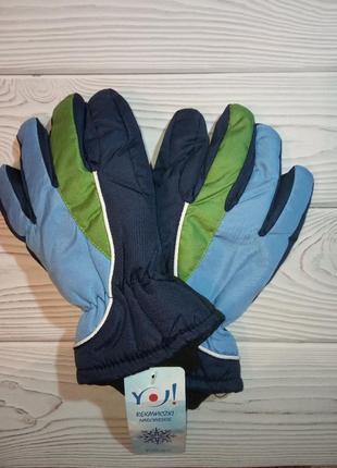 Теплые зимние краги перчатки для мальчиков yo!