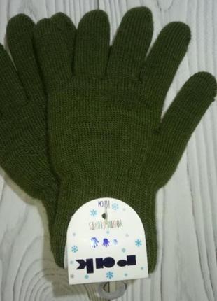 Теплые зимние перчатки на махре польша yo! для мальчиков