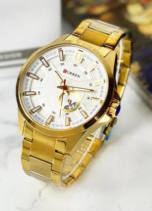 Мужские часы curren gold-white