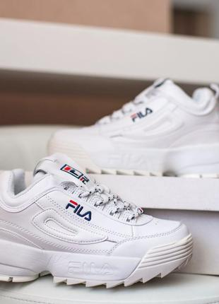 Кроссовки fila disruptor, белые кросовки, білі кросівки