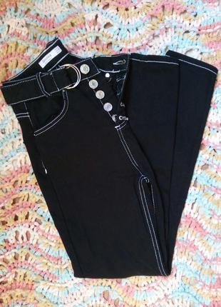 Черные джинсы bershka размер xxs (32/00/22)