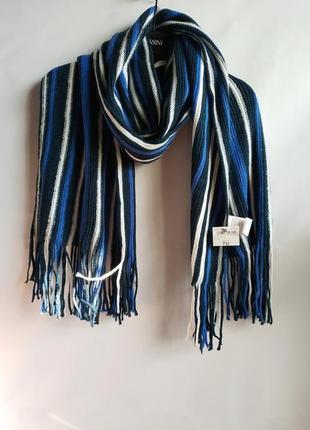 Вязаный шарф унисекс  итальянского бренда  terranova  европа оригинал