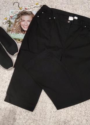 Черные джинсы мом с очень высокой талией батал.