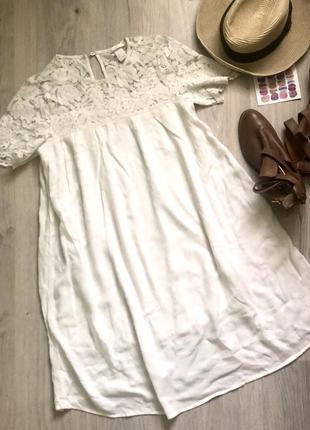 Платье с кружевом h&m