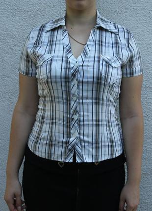 Рубашка (блузка) в клетку (в школу/в офис/на работу)