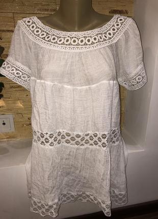 Легкая белоснежная блузка