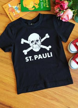 Ультромодная трикотажная футболка,реглан st. pauli на 5-6 лет