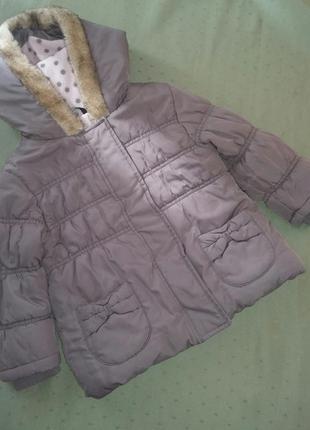 Кофейная куртка курточка демисезонная  на 1/5 -2 года
