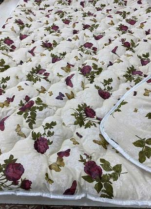 Одеяло холлофайбер бязь натуральная, расцветки разные
