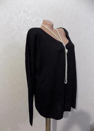 Пуловер кофта черная фирменная h&m размер 50-56