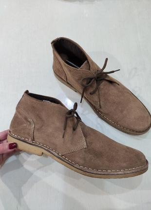 Matalan мужские демисезонные замшевые ботинки